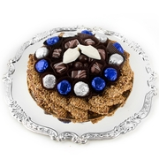 Chanukah Chocolate Silver Charger
