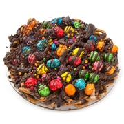 Chocolate Pretzel Pie With Candy Popcorn