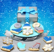 Let it Snow! 12 Giant Hand Decorated Cookies in Gift Box