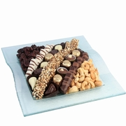 Frosted Square Glass Gift Tray
