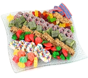 Wavy Gummies & Pretzels Glass Gift Tray