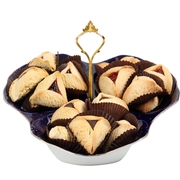 Assorted Hamantashen Cobalt Tray