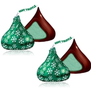 Hershey's Holiday Kisses Dark Chocolate Mint Truffle - 70-Pc. Bag