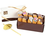 Chocolate Dipped Honey Cookies Gift Box