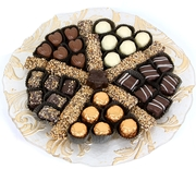 Elegant Glass Chocolate Gift Tray - Gold