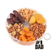 Fathers Day 6-Section Dried Fruit & Nut Tray