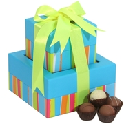 14-Pc Milk Chocolate Truffles Gift Tower
