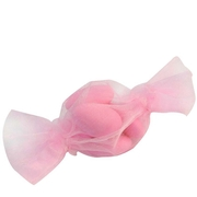 Baby Pink Candy Shaped Organza Bags - 12 pk