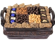 Hanukkah Gourmet Signature Wicker Basket - Med Chanukah Gift