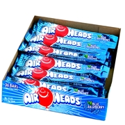 AirHeads Blue Raspberry Taffy Candy Bars - 36CT Box
