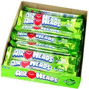 Green Apple AirHeads Taffy Candy Bars - 36CT Case