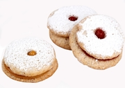 8 Large Passover Linzer Tart Cookies