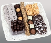Chocolate & Nuts Ceramic Lace Gift Tray