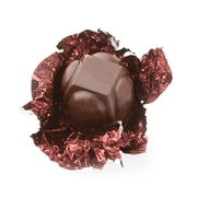 Non-Dairy Brown Foiled Diamond Chocolate Truffle