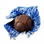 Non-Dairy Dark Blue Foiled Diamond Chocolate Truffles
