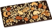 Handmade Dark Belgian Chocolate Bar - Gourmet Nuts