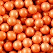Orange Shimmer Pearl Sixlets