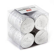 Parve Chocolate Silver Coins - 56CT