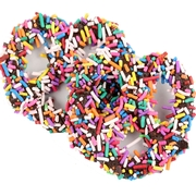 Chocolate Covered Pretzels with Rainbow Sprinkles - 10CT Box