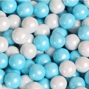 Powder Blue & Pearl White Sixlets