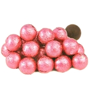 Pink Foiled Milk Chocolate Balls