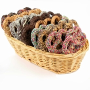 Rainbow Chocolate Pretzel Gift Basket