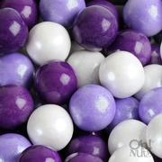 Purple, Lavender & White Gumballs