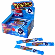Tinglers Blue Raspberry Sour Fizz Chews - 48CT