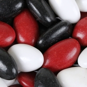 Red, Black & White Jordan Almonds