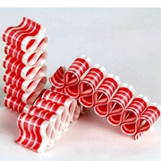 Old Fashioned Red & White Thin Candy Ribbon - 8CT Box