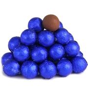 Blue Foiled Milk Chocolate Balls