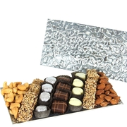 Rectangle Silver Glass Tray