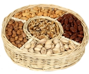 5-Section Assorted Nut Wicker Tray