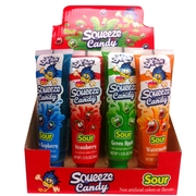 Xtreme Sour Squeeze Candy Tubes - 16CT Box