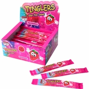 Tinglers Strawberry Sour Fizz Chews - 48CT