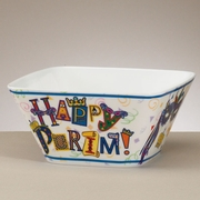 Happy Purim Melamine Square Bowl