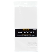 White Plastic Table Cover