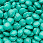 Teal M&M's Chocolate Candies