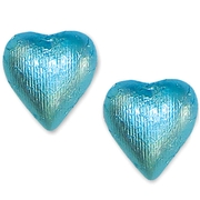 Tiffany Blue Foiled Milk Chocolate Hearts