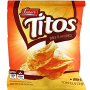 Titos - Bite Sized Barbecue Tortilla Chips - 72CT Case