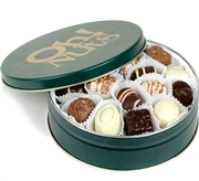 Holiday Non Dairy Chocolate Truffle Gift Tin