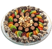 Tu Bishvat Glass Gift Tray