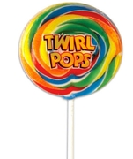 3 oz Rainbow Twirl Whirly Pop - 8-Inches - 6-Pack