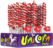 Red & White Unicorn Pops - 24CT Display Box