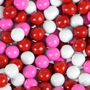 Red, Hot Pink & White Sixlets