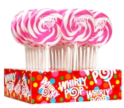 Pink & White Swirl Whirly Pops - Strawberry