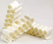 Old Fashioned White Thin Candy Ribbon - 6CT Box