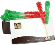 Christmas Rock Candy Crystal Sticks - Strawberry & Lime