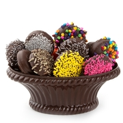 Chocolate Covered Cookies In Chocolate Basket