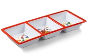 Jelly Belly Red 3-Section Melamine Tray